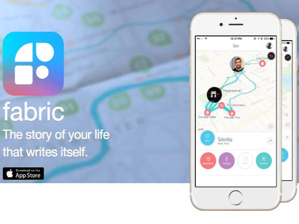 自動ライフログアプリ「Fabric」