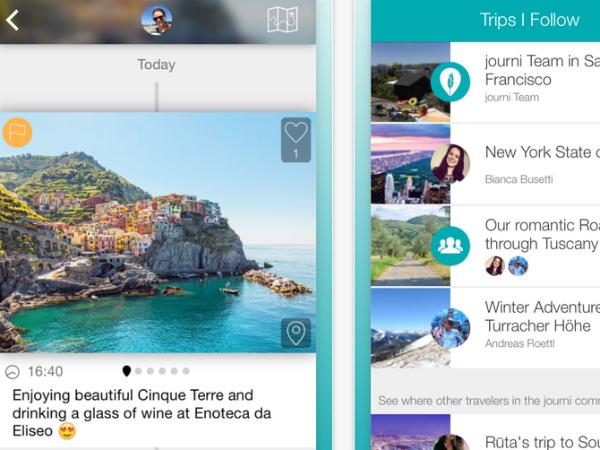スマホアプリ「journi」のスクリーンショット