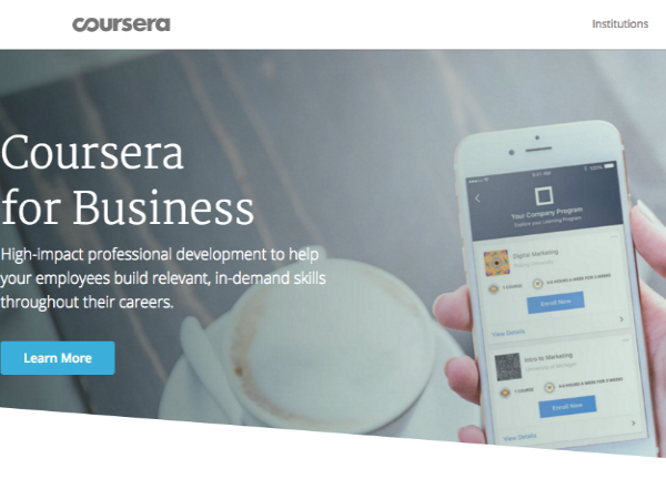 Courseraの企業向けサービス「Coursera for Business」
