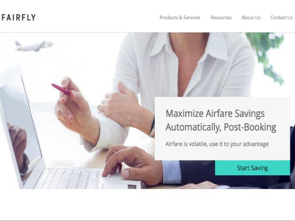 FairFlyの公式ウェブサイト