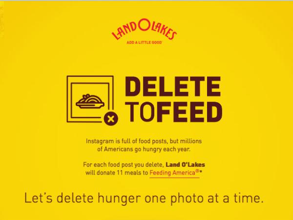 食料寄付キャンペーン「Delete to Feed」