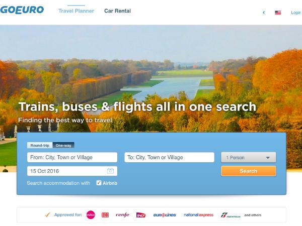 欧州の交通機関を幅広く網羅した移動ルート検索ツール「GoEuro」