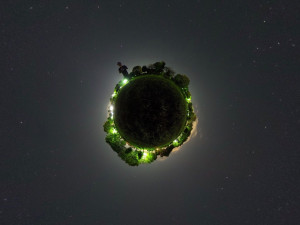 THETA Sでの星空写真 リトルプラネット