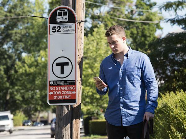 「BlindWays」でバス停の位置情報を入力するイメージ
