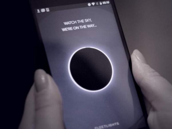 「Fleetlights」のスマホアプリ画面
