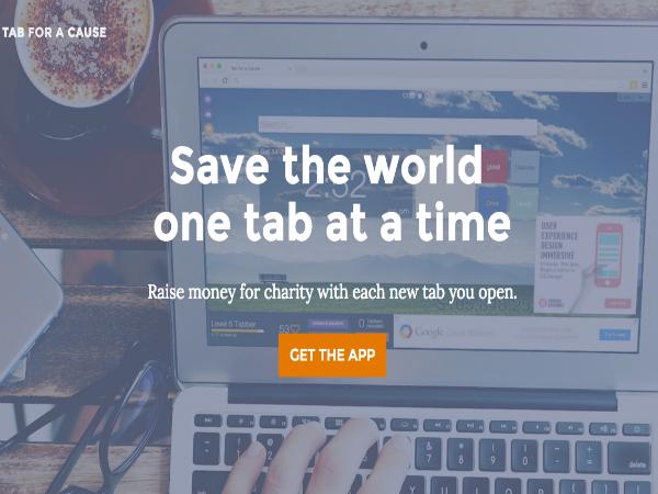 ウェブブラウザ向け拡張機能「Tab for a Cause」