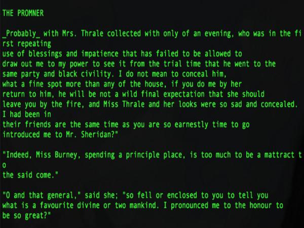 Literaiの人工知能がフィクションを執筆する様子