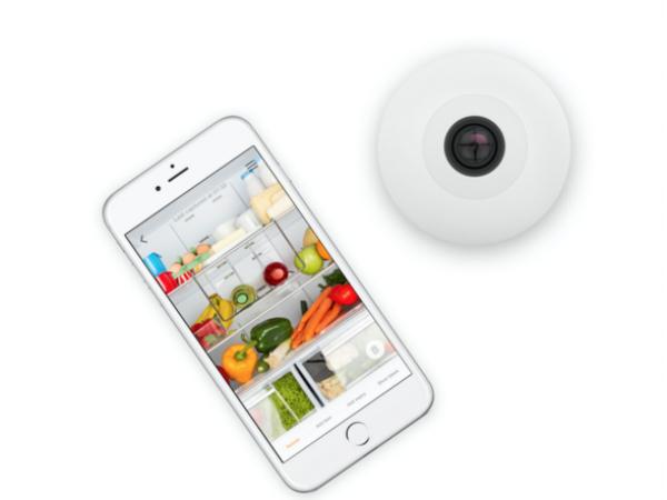 ワイヤレスカメラとスマホアプリを組み合わせたスマートガジェット「FridgeCam」