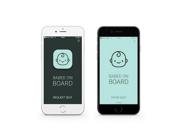 妊婦用アプリ「Request Seat」と一般乗客用アプリ「Offer Seat」