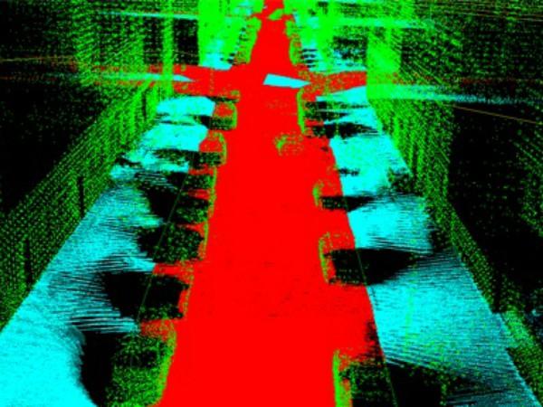 CARMERAが撮影した道路の3Dデータ
